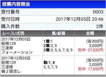 船橋→3連単2連発でフィニッシュww