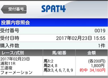 予告通り◎10人気キタサンオーゴンから3複9点→170.8倍ズバリ!