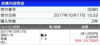 浦和で不良馬場でもなぁ・・当然のように今日もメインジャックww 明日は重賞埼玉栄冠賞やな!