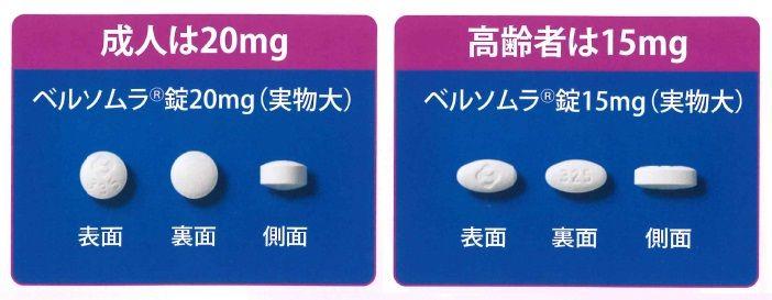 ベルソムラ 錠 15mg