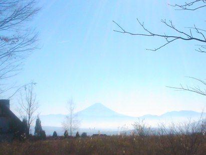 三分の一湧水から見た富士山