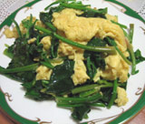 麗都 青菜の卵炒め