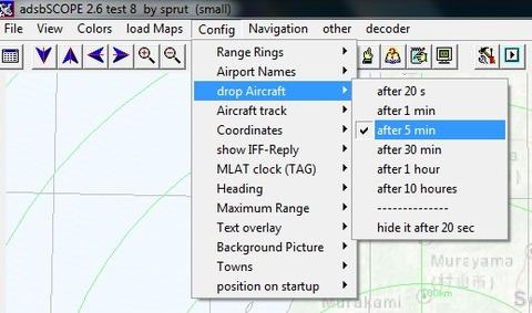 adsbscorp config drop Aircraft