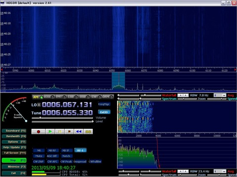 HDSDR Input Sampling Rate設定後