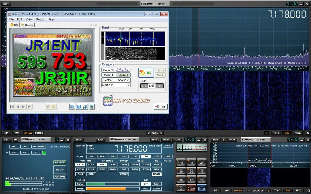 how to use rx sstv