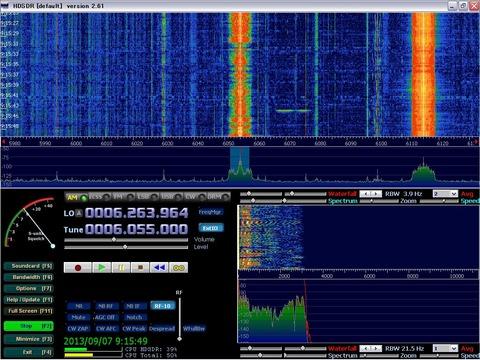 HDSDR 6055KHz
