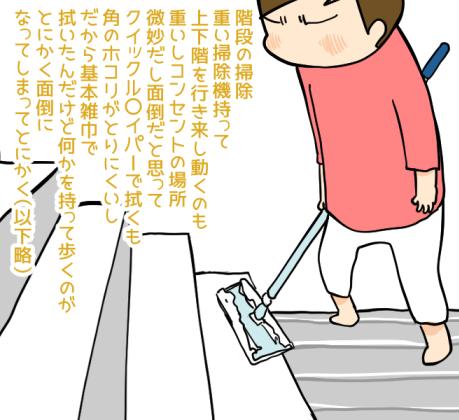 階段掃除が面倒くさいんですよ…