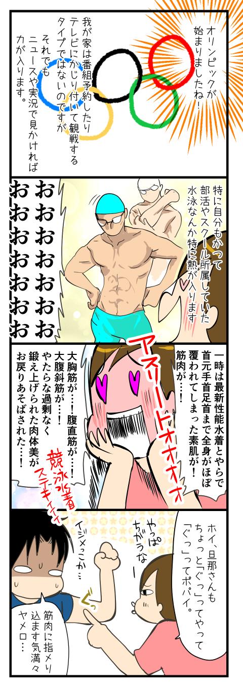 オリンピックの筋肉