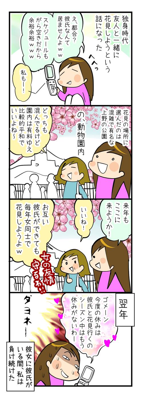 女の友情と花見