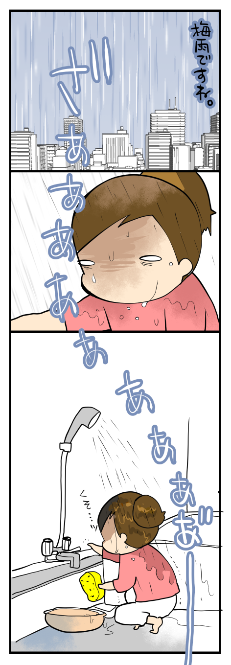 ずぶぬれの日
