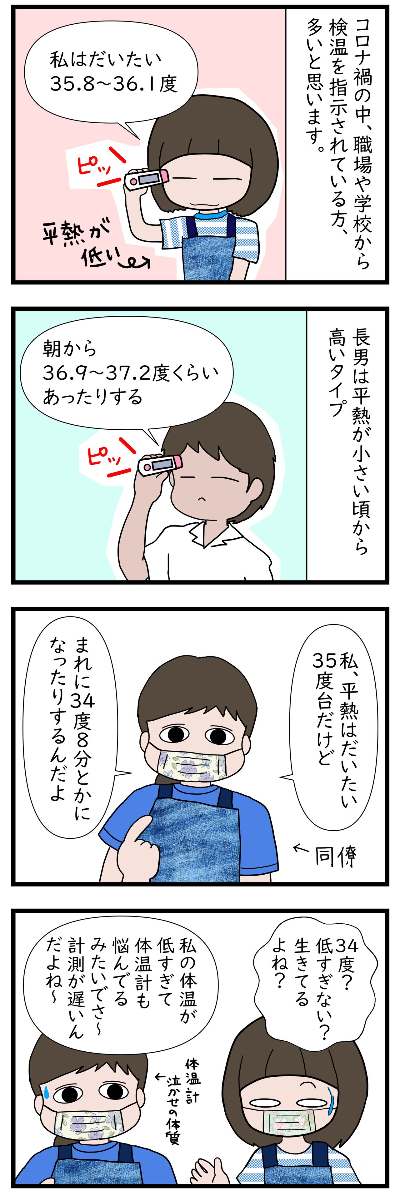 タイミング 検温