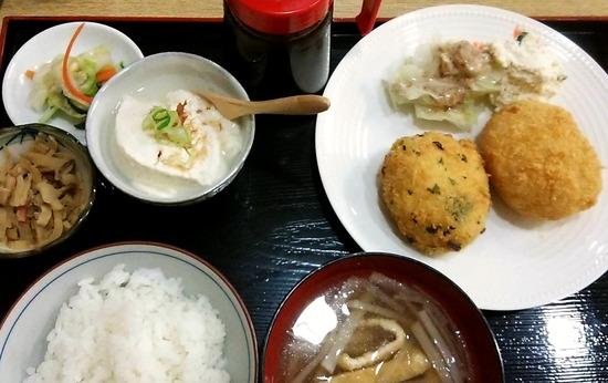 180724t_豆腐コロッケ定食@田楽茶屋