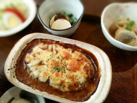 180714tt_チーズハンバーグ定食@秋桜