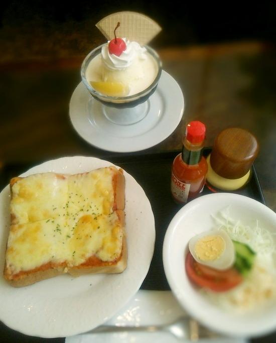170826tt_チーズトーストとコーヒーゼリー01@秋桜