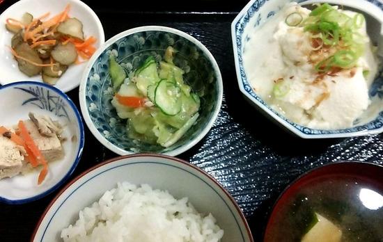 180619t_寄せ豆腐定食@田楽茶屋