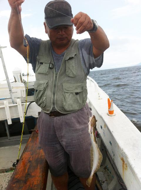 有明海のヒラメ釣り 20日出船の釣果