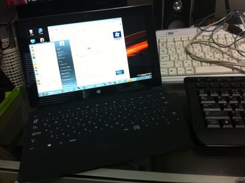 WindowsRT リモートデスクトップでタッチカバーキーボードが英語キーボードで認識される?