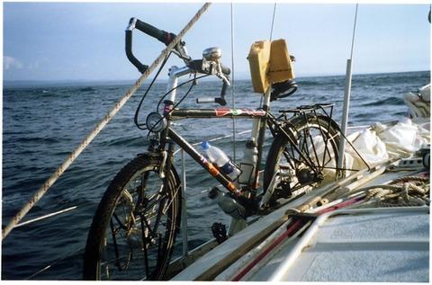 Bike on boat, Panama (Medium) (Small)