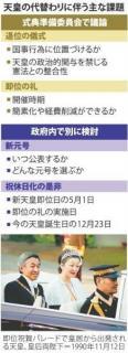<天皇代替わり>公務員懲戒、免除を検討 佐川氏対象か