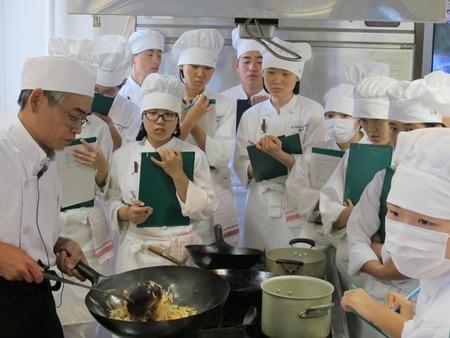 広島県立総合技術学校焼き米粉教学