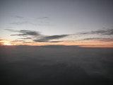 沖縄に行く途中の空