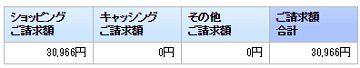 のほほん セゾン9月支払い1