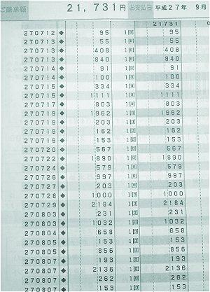 のほほん クレジットカード明細 食費編8月