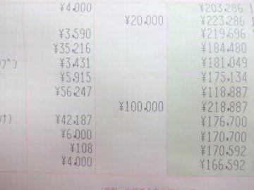 のほほん 通帳画像参考にしつつ7月の私の家計簿 1