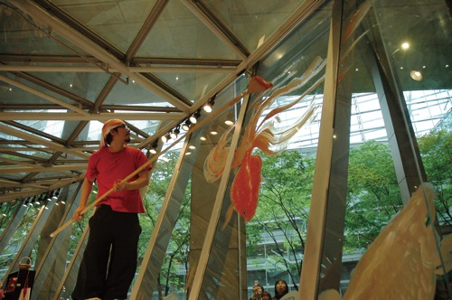 ライブペイント 東京国際フォーラム アート ショップ エキジビション スぺース 個展時に公開制作 2010