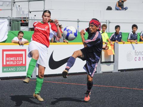 ホームレスワールドカップミラノ大会1-1