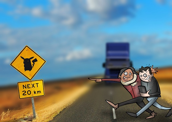 Big issue australia pokemon illustration by zev landes