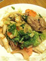 20060614ジンギスカン野菜炒め