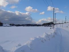 20051227帰りの雪道