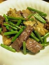 20060218牛肉カキニンニクアスパラ炒め
