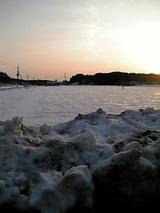 20060225山雪景色夕焼け1