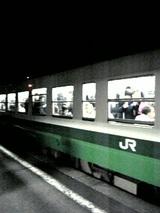 20060526会津高田駅学生列車