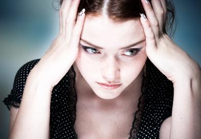 パニック症に悩む女性