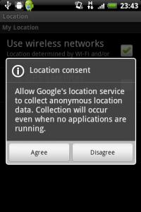 全Android端末、位置情報を送信されていた