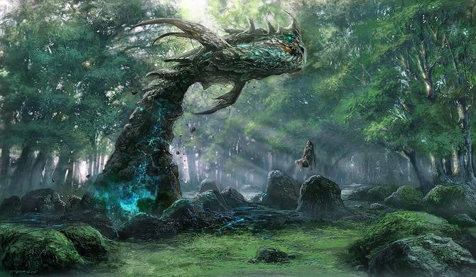ファンタジーイラスト【森に棲む者達とその近辺】幻想 画像 紹介 ★ファンタジー イラスト 【森に棲む者達とその