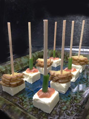 クリームチーズ美食風ピンチョス