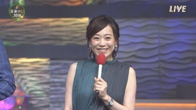 江藤愛アナ ノースリーブ! 音楽の日2018 ひるおび!