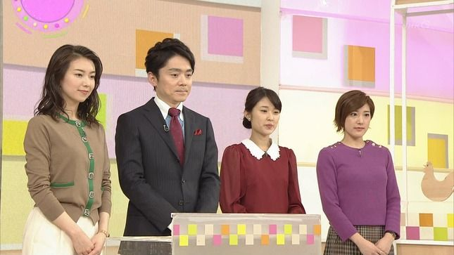 和久田麻由子、近江友里恵、上原光紀 おはよう日本