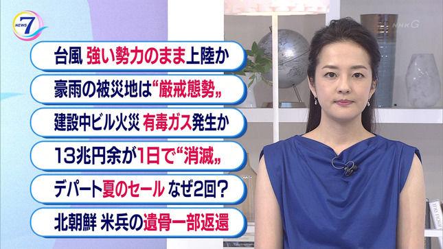 鈴木奈穂子アナ ノースリーブ! NHKニュース7