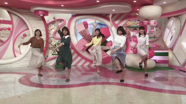 笹崎里菜アナと「Oha!4」メンバー 「3年A組朝礼体操」を踊ってスカートの奥がチラ見え!! 【GIF動画あり】