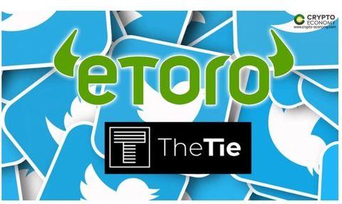 ソーシャルトレーディングプラットフォームeToroがTIEと提携して、Twitterのセンチメント主導型投資戦略を開始