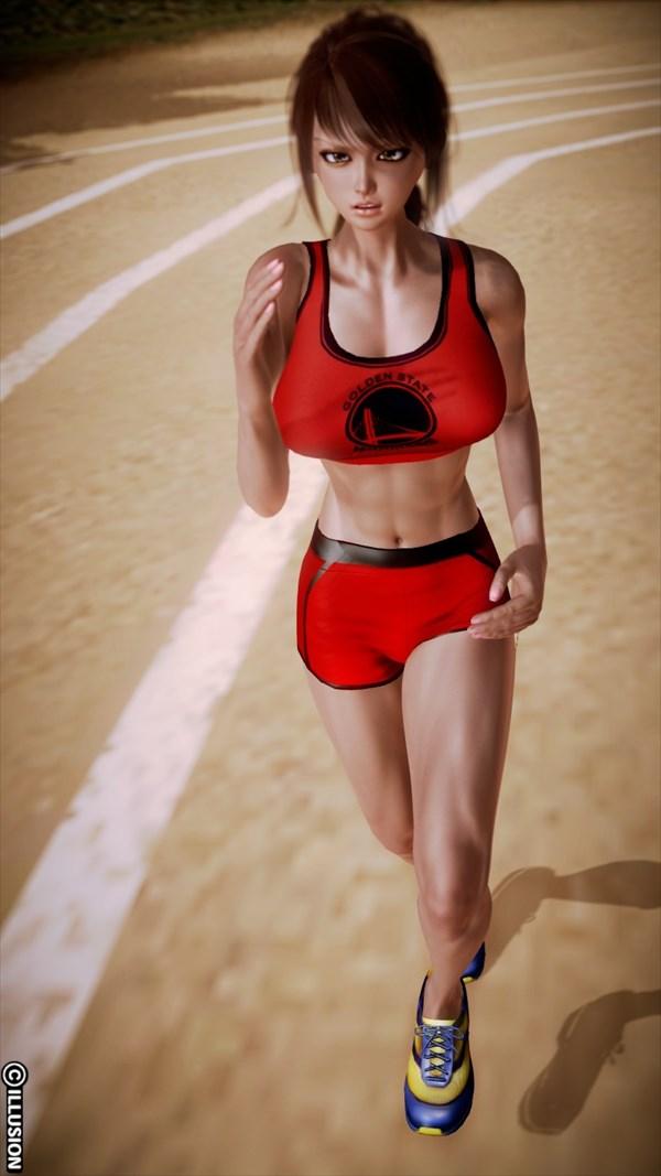 スポーツ少女のエロ画像1