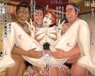 複数の男たちにがっつり犯されちゃってる輪姦エロ画像www