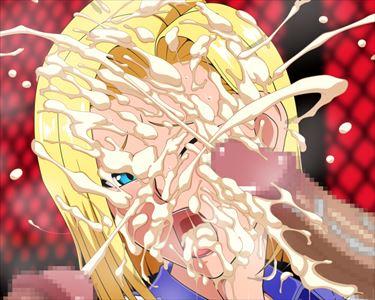 【二次エロ画像】食らえ!ザーメンシャワー!