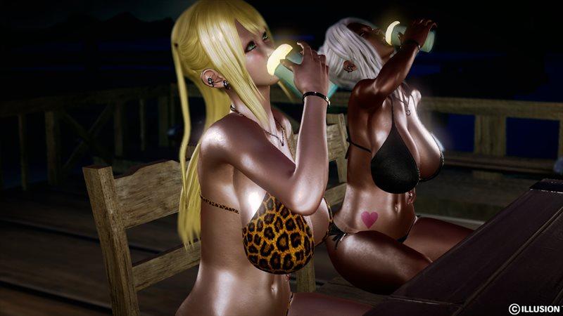 【ハニーセレクト】仲良しギャル三人組!夏のバカンスのエロ画像2