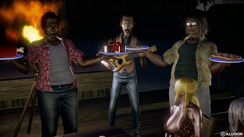 【ハニーセレクト】仲良しギャル三人組!夏のバカンスのエロ画像11